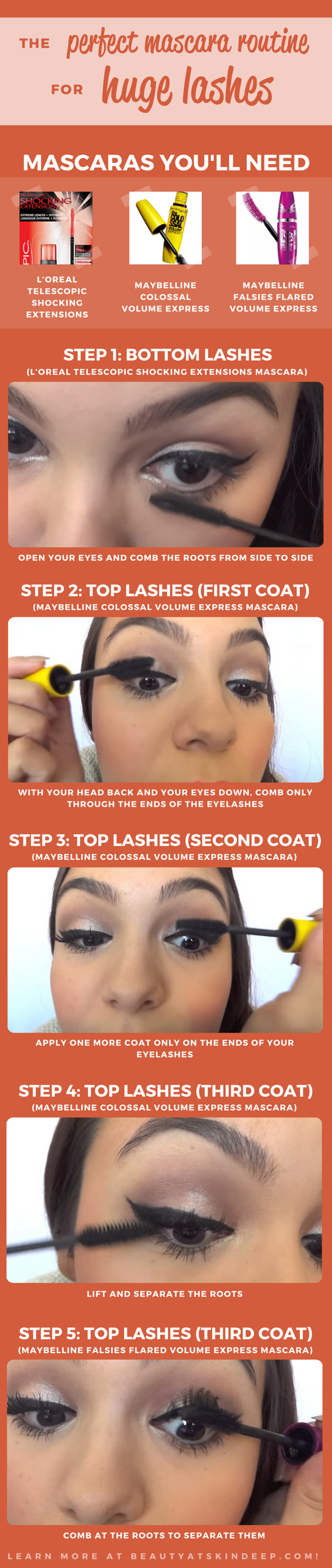 The Perfect Mascara For Huge Lashes - Step by step tutorial